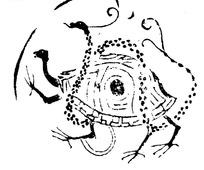 中国古代拓印瓦当图案-神灵玄武纹瓦当图案