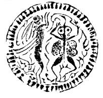 中国古代拓印瓦当图案-蟾蜍玉兔纹瓦当图案