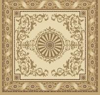 正方形欧式花纹地毯图案