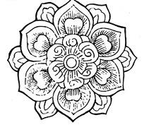 中国传统精美莲花底纹