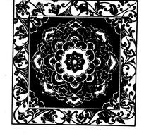 中国传统精美方形莲花底纹边框