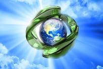 创意炫酷地球背景PSD分层素材