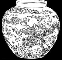 龙纹青花瓷
