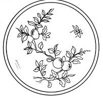 矢量圓形帶有花紋花瓣