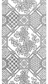 古典矢量花纹组合素材