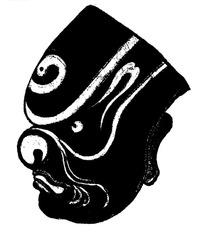 传统黑白面具矢量素材