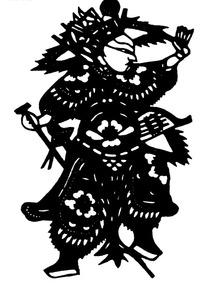 刻纸图案—神武的古代将军