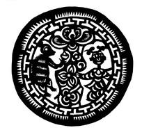 刻纸图案—圆盘里的老鼠图案