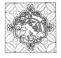 传统鹿鹤同春纹样矢量素材