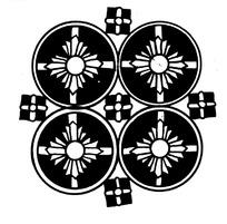 矢量对称黑白花纹艺术素材
