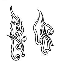 中国古典图案-卷曲纹构成的简单图案