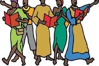 大合唱的非洲人