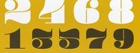 古典英文数字字体 Pompadour Black