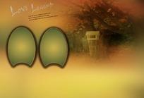 大气成熟黄棕色混搭枫树林底纹背景素材