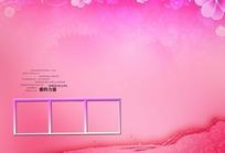 温馨粉红花朵装饰背景素材