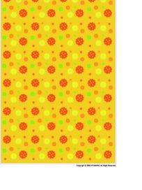 黄色背景上可爱的圆点和花朵