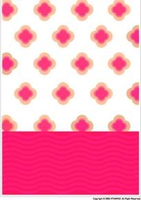 可爱的粉色花纹背景