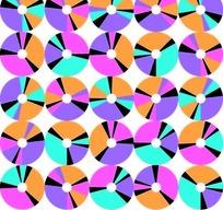 手绘斑斓彩色光盘填充图案