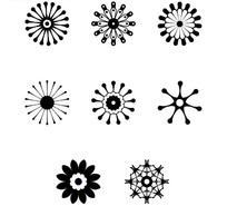 8个黑白花纹矢量素材