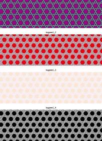 各种颜色的双线六边形网格