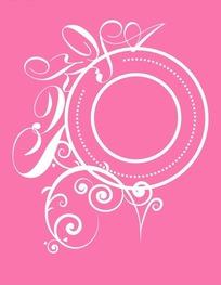 粉红色背景上的创意英文字体与边框