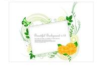 黄色花朵绿色植物和长方形边框