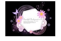 六边形边框和精美花朵