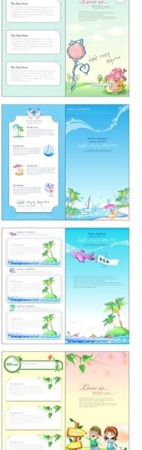 矢量卡通宣传册设计素材