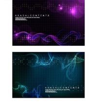 蓝色和紫色背景上的动感曲线