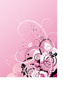 粉色唯美可爱的花纹