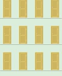 手绘木门填充图案