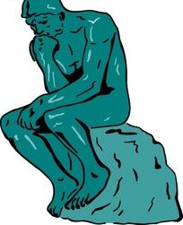 卡通大卫雕像