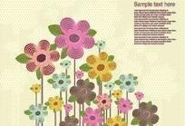可爱的植物花朵图案