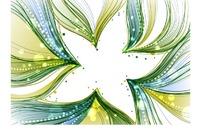 背景插画青绿色绚丽流彩的五角星边框底板
