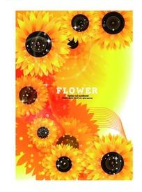 花朵闪星动感线条