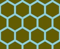 底纹—蓝色六边形构成的蜂窝图案