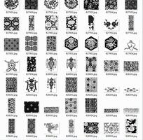 古典矢量花纹素材