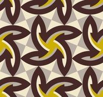 灰色背景褐色风车三角形图案