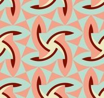 蓝色背景粉红风车三角形图案