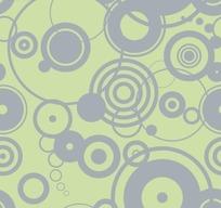 浅绿色底大小不同的灰色同心圆底纹