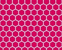 底纹—枚红色背景上的灰色六边形构成的蜂窝图案
