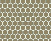 底纹—棕绿色背景上的淡蓝色六边形构成的蜂窝图案