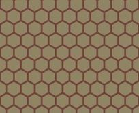 底纹—棕绿色背景上的褐色六边形构成的蜂窝图案