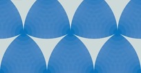 米白色背景上圆环的蓝三角形图案