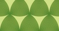 米黄色背景上圆环的绿色三角形图案