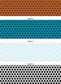 矢量花纹背景四款相交线条的蜂窝网孔底纹