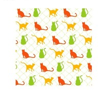 艺术背景彩色缤纷的小猫底纹