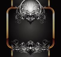 欧式花纹方形边框
