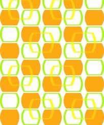 白色背景上的边框和橙色几何图案
