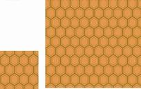 古典底纹 咖啡色蜂窝六边形的网纹